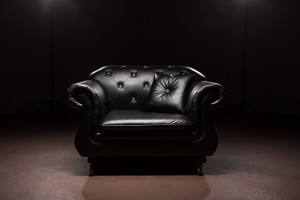 Black Leather Single Chair